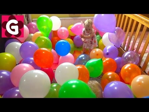 ROOM-FILLED-with-BALLOONS-kids-react-Crazy-PARTY