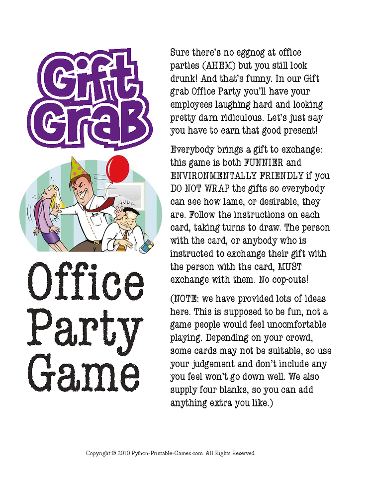 Office Christmas Party Gift Exchange Ideas