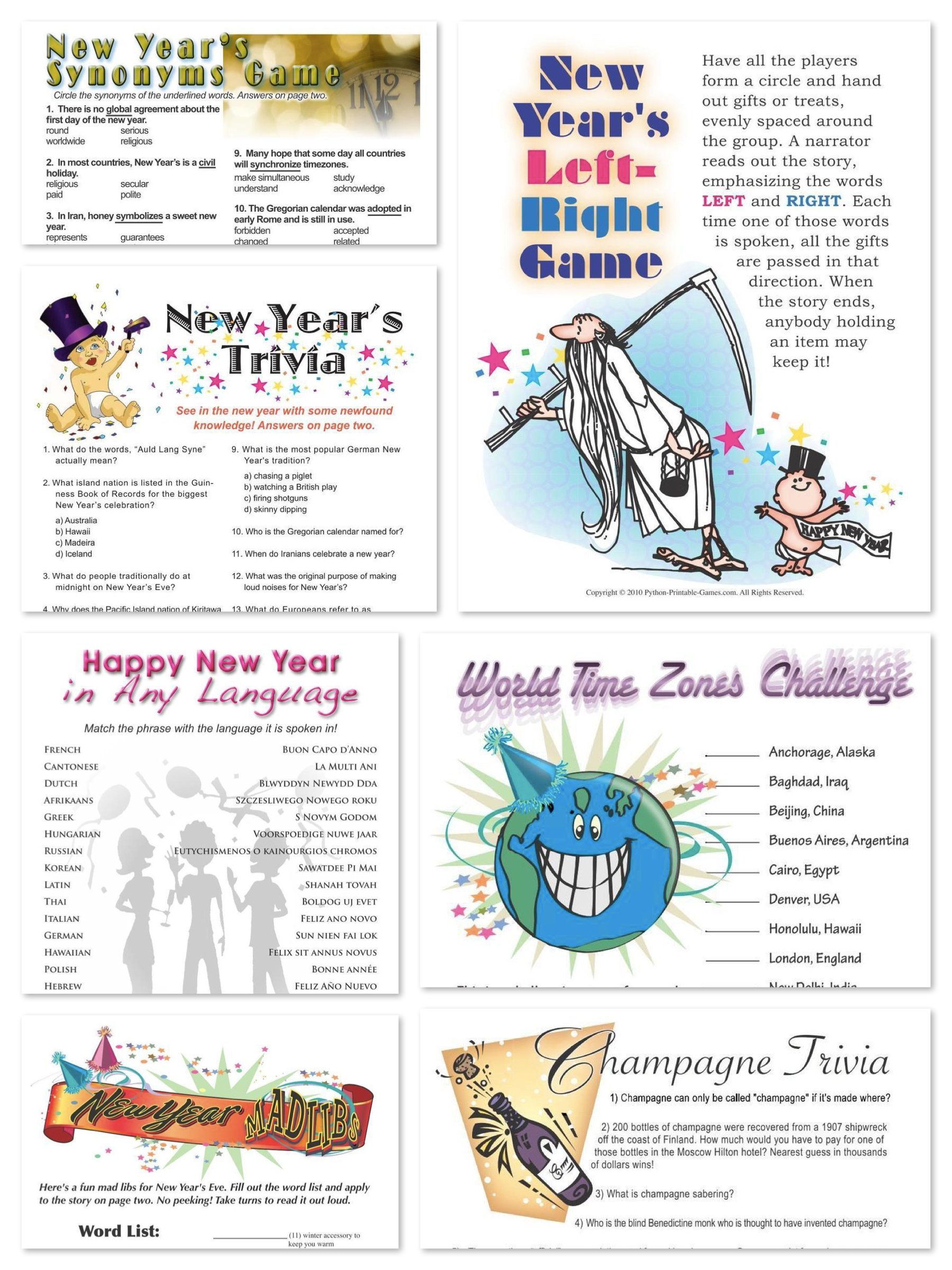 New Year S Party Printable Games Discounts And Deals For