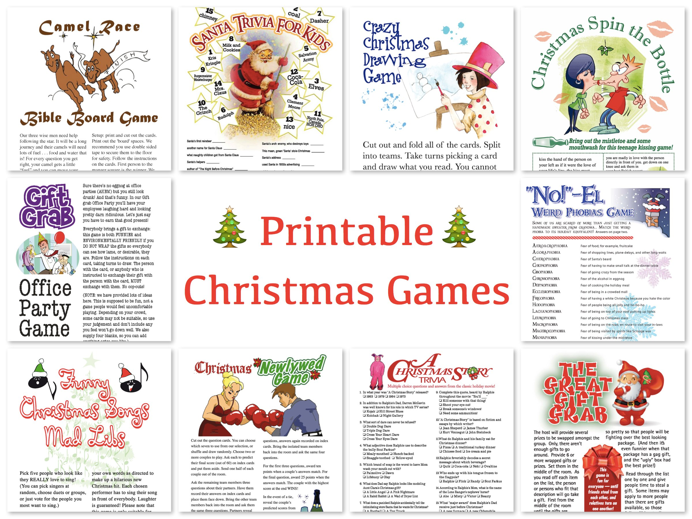 Great Deals On Printable Holiday Games