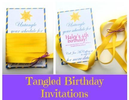 Tangled Birthday Invites Main5