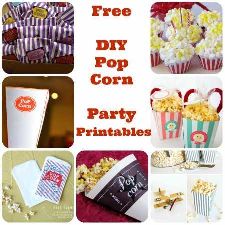 DIY Printables – Pop Corn Wrappers & Labels