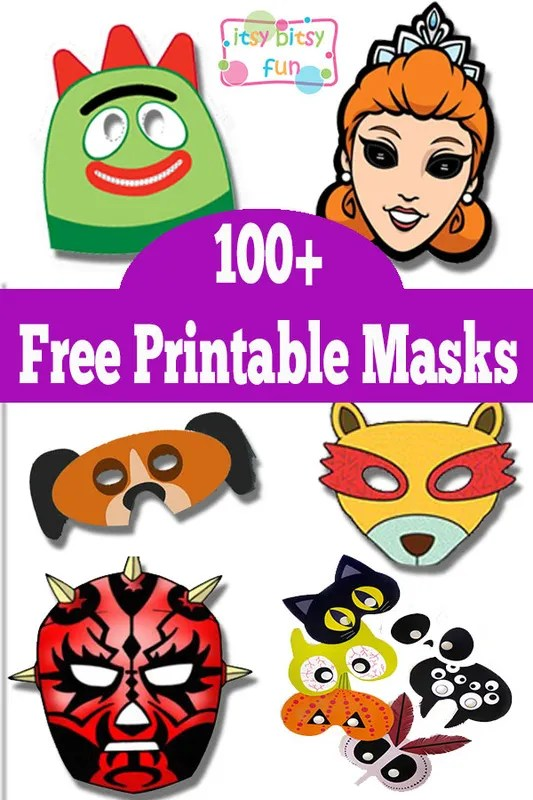 Declarative image for free printable masks