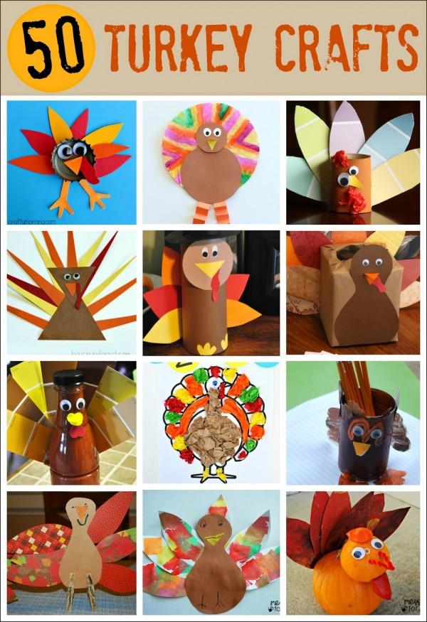 50 Turkey Crafts for Thanksgiving