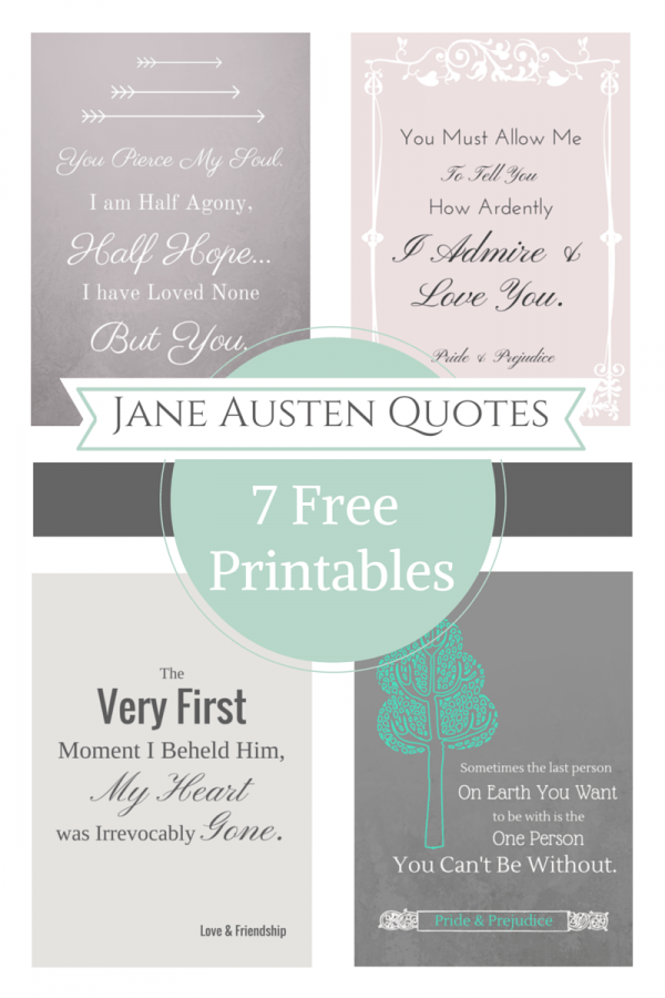 Free Printable Jane Austen Quotes For Your Valentines Day