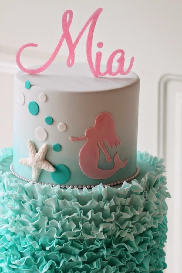 how to make a mermaid cupcake cake