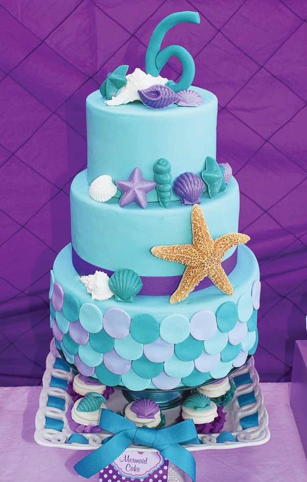 8 mermaid themed birthday cakes party ideas for Ariel cakes decoration