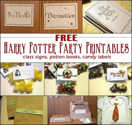 It is a photo of Fan Free Printables for Harry Potter Parties