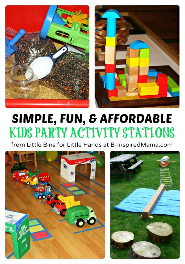 Affordable Ideas For Kids Party Activity Stations