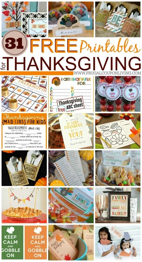 frugal craft ideas 31 free printables for thanksgiving ideas 2057