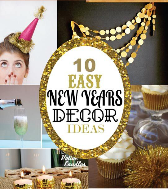 10 easy new years decor ideas party ideas. Black Bedroom Furniture Sets. Home Design Ideas