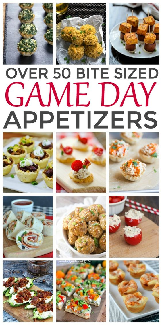 50 bite sized super bowl appetizers party ideas for Super bowl appetizers pinterest