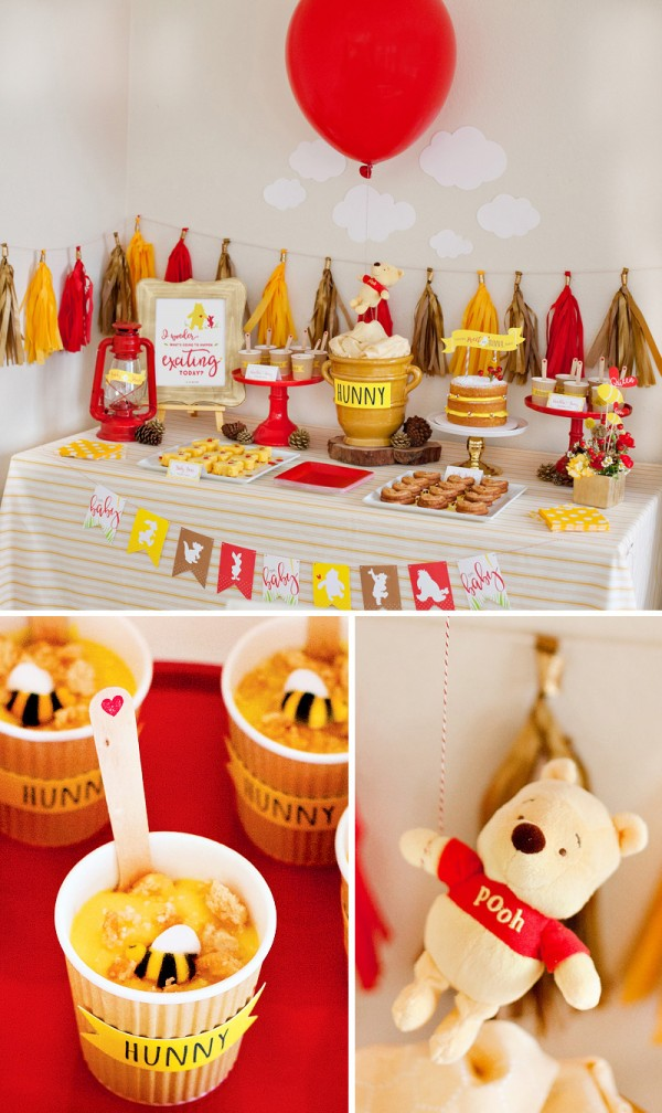 This Winnie The Pooh Baby Shower Is Cute Yet Glamourous