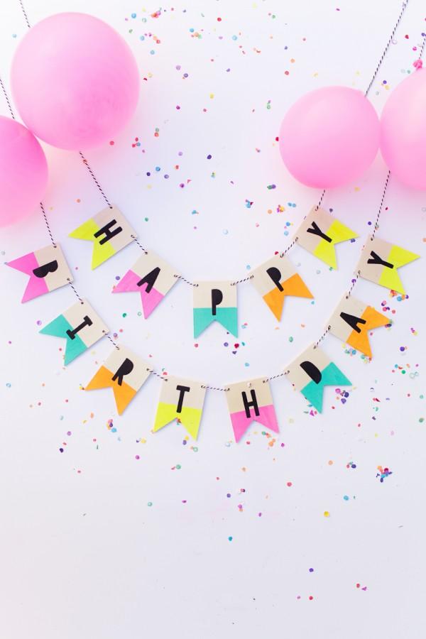 Make A Cute Reusable Wooden Birthday Banner Party Ideas