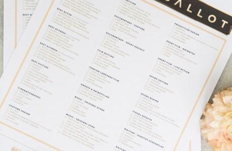 Free Printable Oscars Ballot Paper