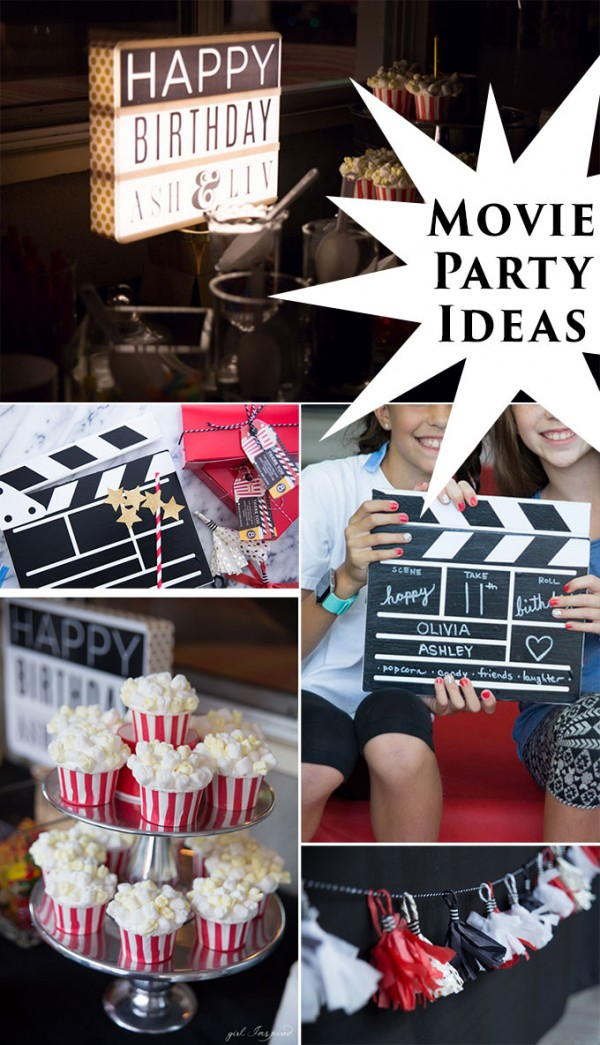 how to throw a movie night party party ideas