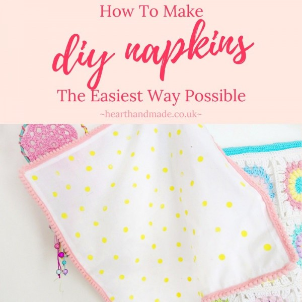 DIY Napkins For The Dinner Table Wedding or Party