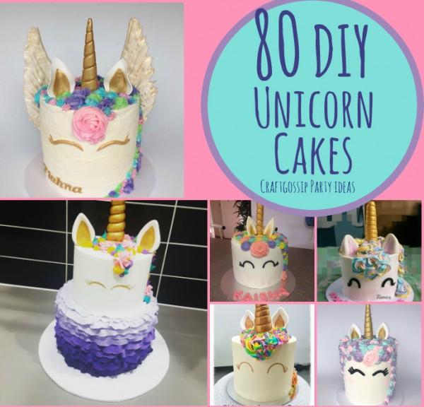 80 DIY Unicorn Cake Ideas Party