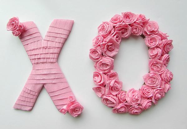 Crepe Paper Valentines Day Decoration