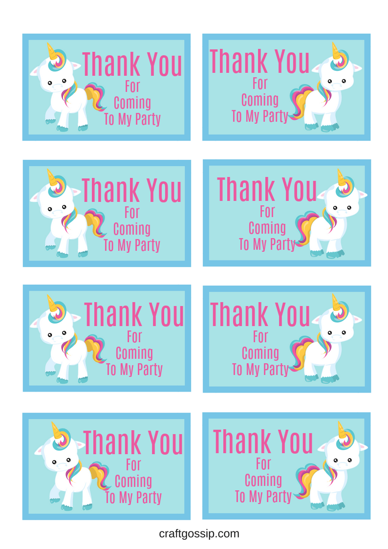 It is a picture of Massif Free Unicorn Party Printables