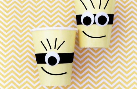DIY Minions Party Cups