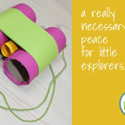 DIY Kids Dora The Explorer Binoculars