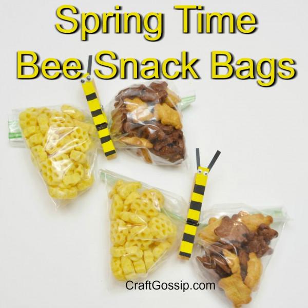 DIY Springtime Bee Snack Bags