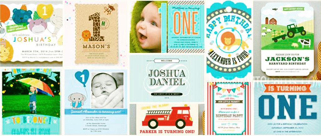 cute baby boy 1st birthday invitations