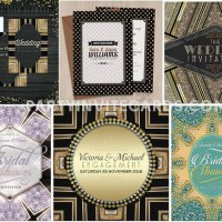 Shimmery Glitzy Glam Invitations | Weddings
