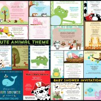 18 Adorable Animals Baby Shower Invitation