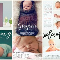 20 Adorable Baby Photo Birth Announcement Cards
