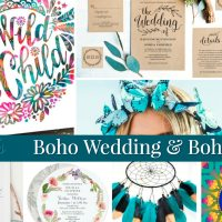 Bohemian Style Wedding & Boho Baby Party Ideas