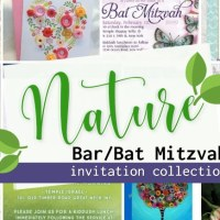 Nature themed Bar & Bat Mitzvah invitations