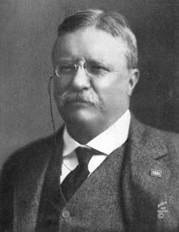 Football fan Theodore Roosevelt