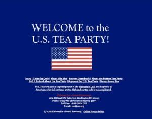 Tea party website in 2002