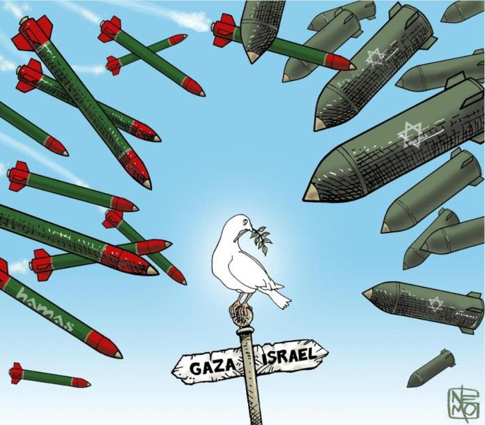 peace in the middle east cartoon