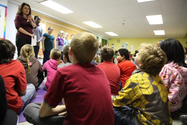 kids leaning to speak out about bullying 2