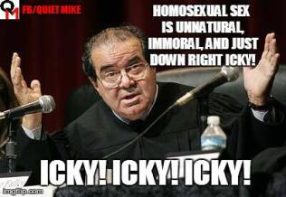 meme, anthony scalia, homosexuals