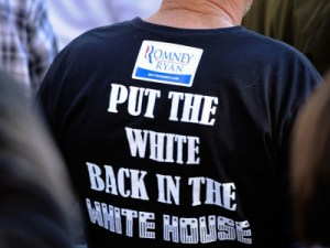 White in the White House. racist t-shirt