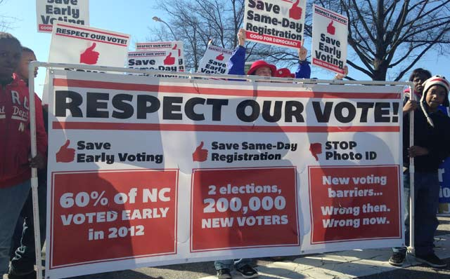 Voting Rights activists in North Carolina