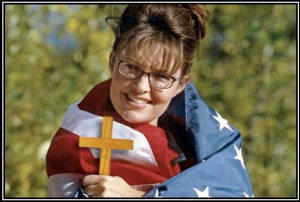 sarah palin wrapped in flag