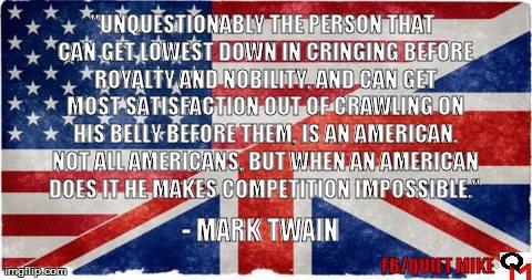 mark twain, British royalty
