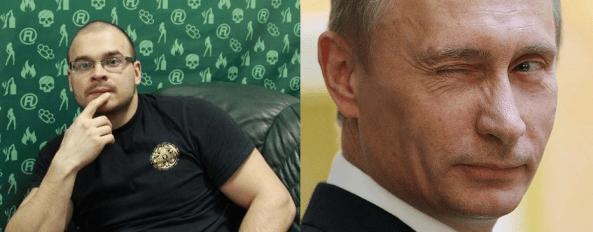 Maxim Tesak and Vladimir Putin