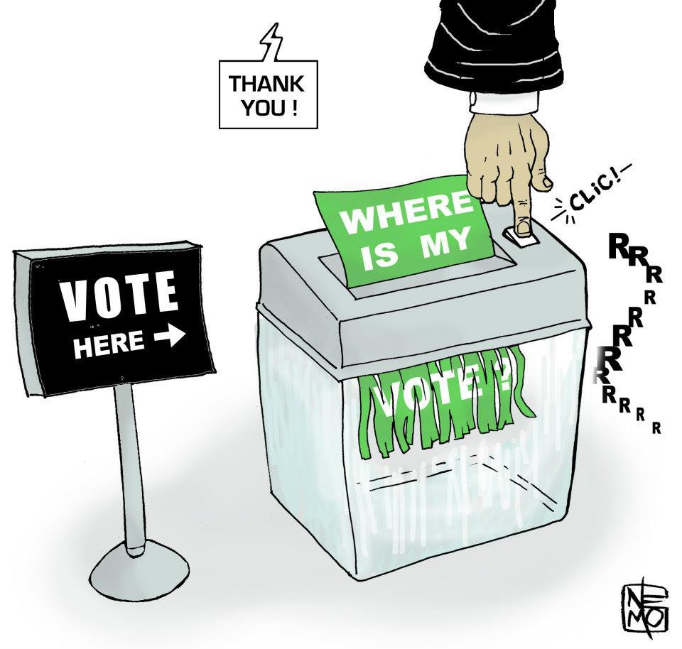 Voter Suppression Cartoon