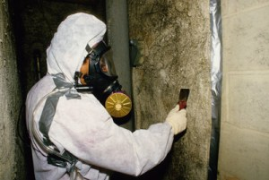 Removing asbestos from a home