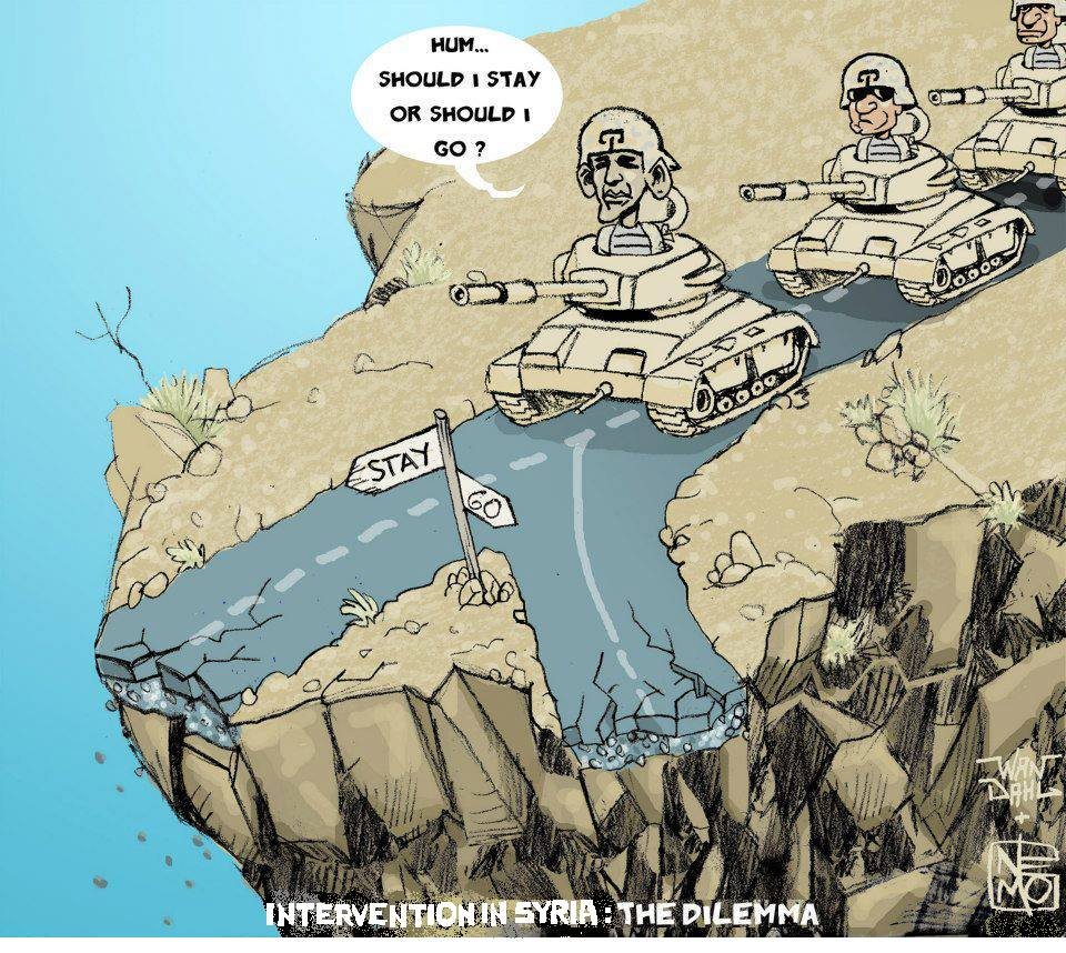Intervention in Syria Cartoon