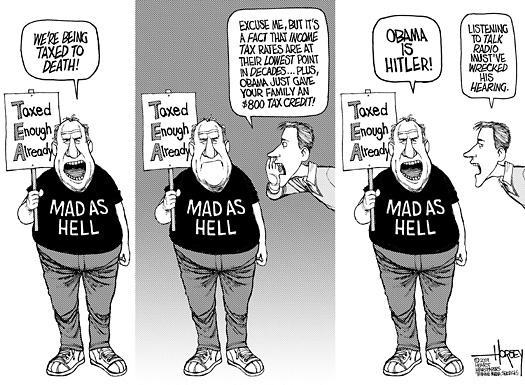 Tea Party Cartoon