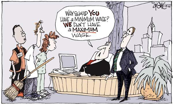 maximum wage cartoon