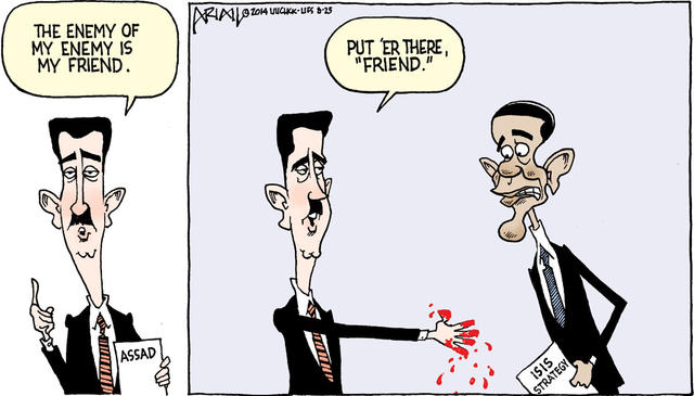 Much to the delight of Assad, best editorial cartoons 2014