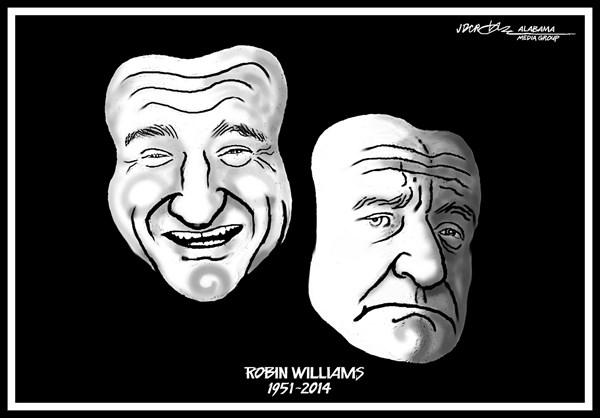 best editorial cartoons 2014, robin williams